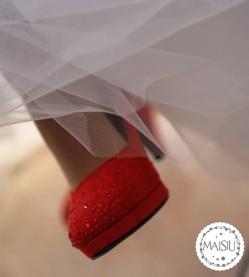 Scarpe sposa rosse