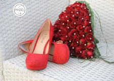 Scarpe e bouquet